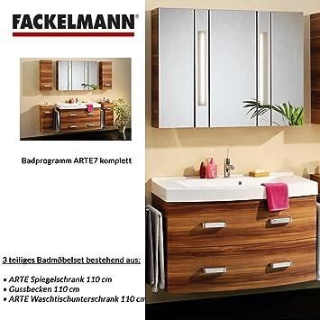 Fackelmann Badmöbel ARTE 7 Waschbeckenunterschrank / Waschbecken / Spiegel