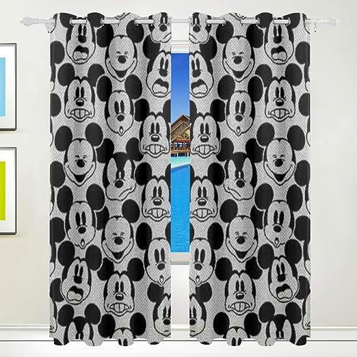 Olicsley - Cortinas Opacas con diseño de Mickey Mouse para ...