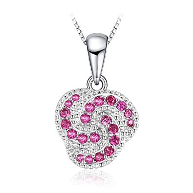 JewelryPalace 0.05ct Cubic Zirconia Cute devil Pendant Necklace 925 Sterling Silver 18 Inches SMUWDh