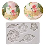 VWH 3D Knit Flower Silicone Mold Wedding Party Cake Decoration Molds Fondant Candy Chocolate Molds