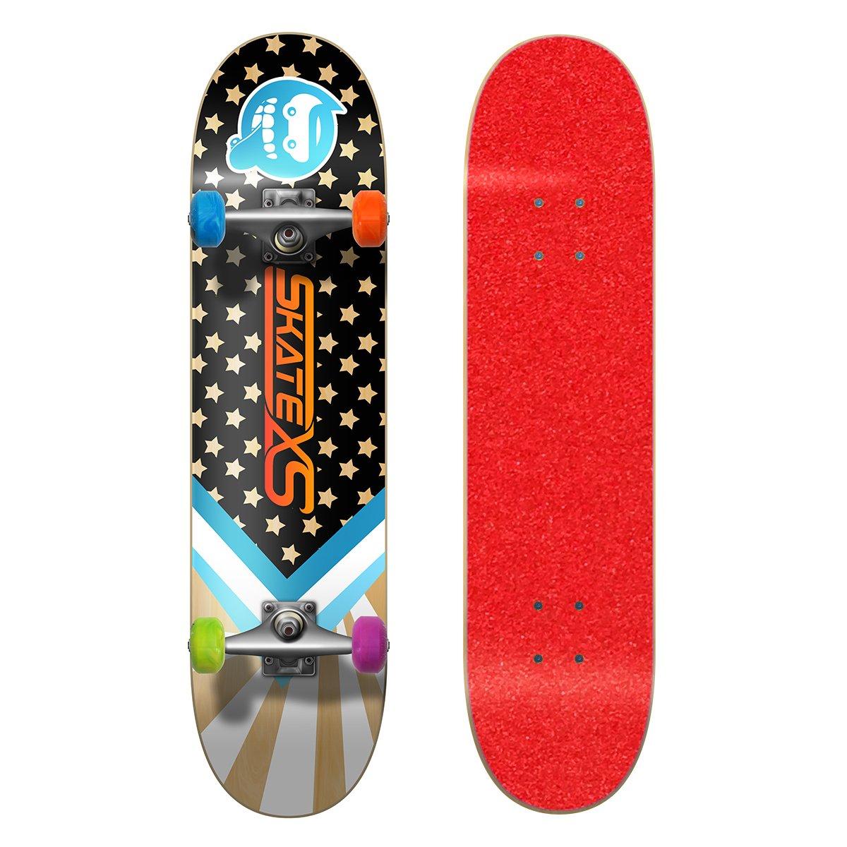 最新発見 SkateXS 11-12) 初心者 スターボード Grip ストリート Wheels スケートボード B01N1OF65E 7.4 x 30 (Ages 11-12)|Red Grip Tape/ Multi-Color Wheels Red Grip Tape/ Multi-Color Wheels 7.4 x 30 (Ages 11-12), スマホ 手帳型 ケースShop ENYU:9c4a1fce --- a0267596.xsph.ru