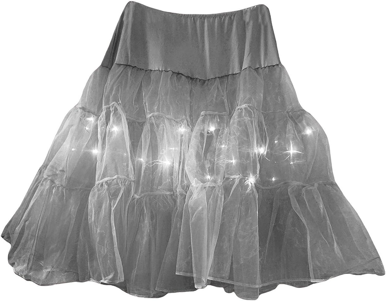 Legou Womens Tutu Crinoline Underskirt with Led Light Up