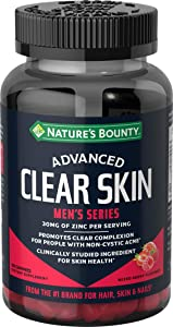 Nature's Bounty Advanced Clear skin, Men's Series, 60 Gummies