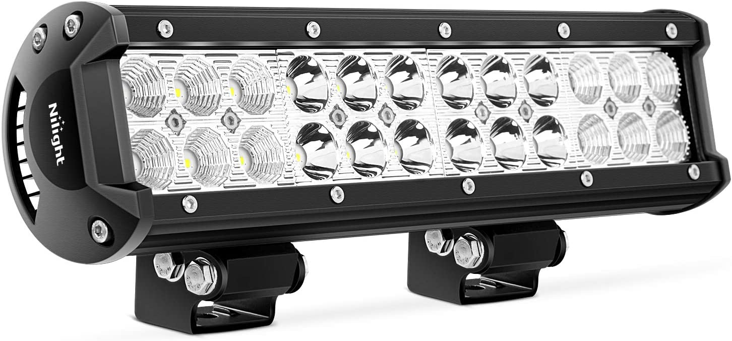 Nilight NI06A-72W 12Inch 12 Inch 72W Spot Flood Combo Bar Off Road Boat Driving Led Work Light SUV Jeep Lamp,2 Years Warranty: Automotive