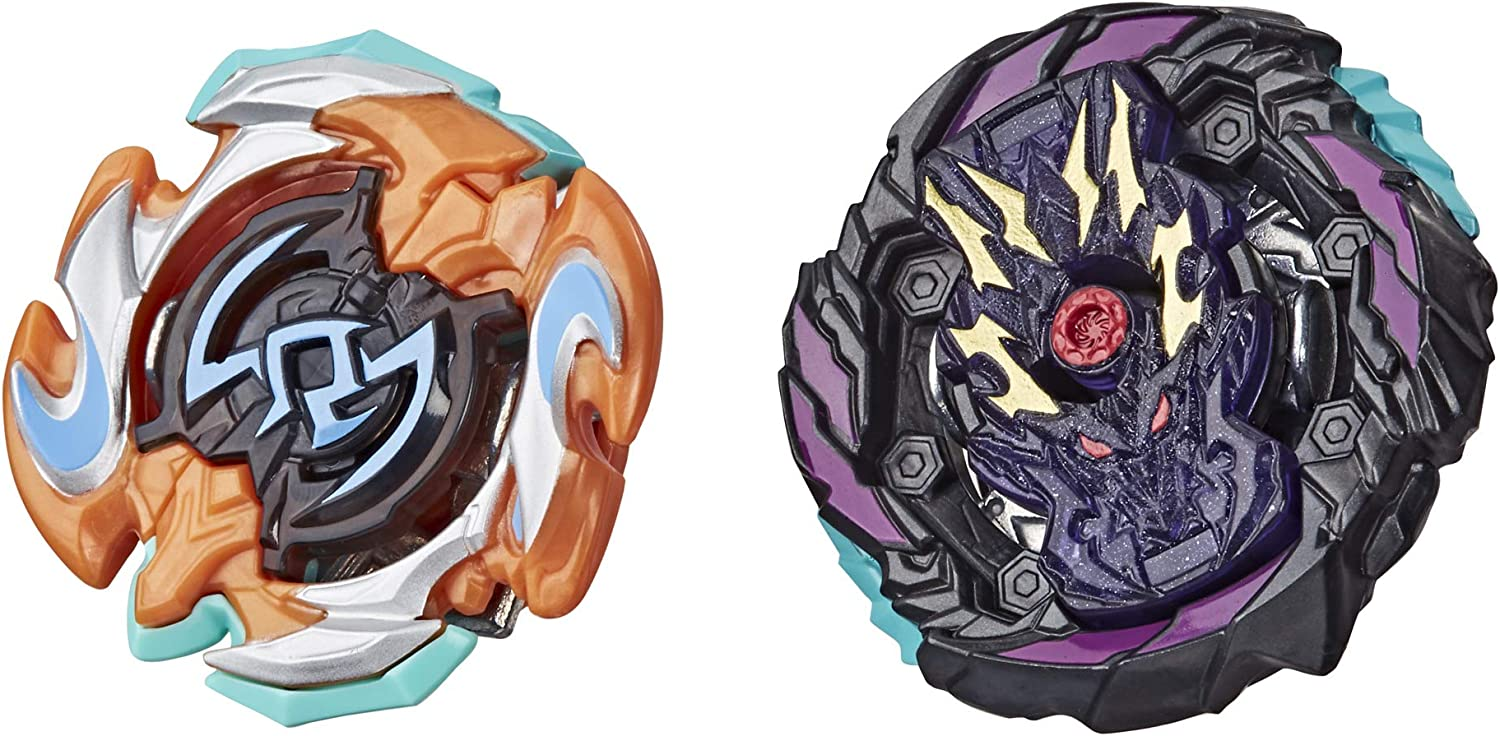 BEYBLADE Burst Rise Hypersphere Dual Pack Dusk Balkesh B5 and Right Artemis A5 -- 1 Left-Spin and 1 Right-Spin Battling Top Toy, 8 and Up