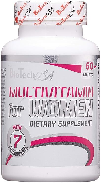 Biotech USA Vitaminas y Minerales para Mujer, Paquete de 60 tabletas