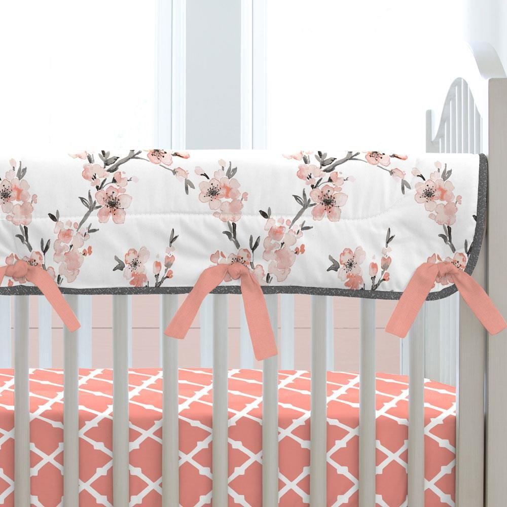 Carousel Designs Light Coral Cherry Blossom Crib Rail Cover by Carousel Designs