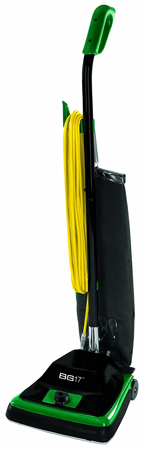 "Bissell BigGreen Commercial BG100 ProTough Upright Vacuum with Straight Handle, 870W, 12"" Vacuum Width"