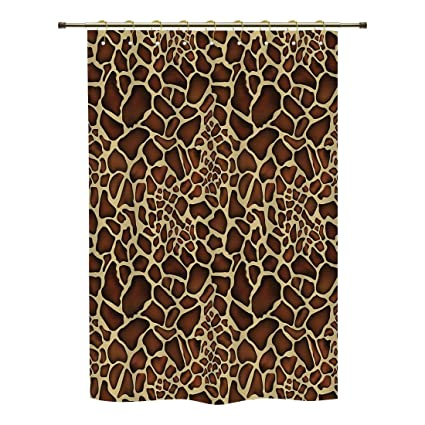 IPrint Shower CurtainZambiaGiraffe Skin Pattern Wildlife Symbolic Zoo Hippie Style Artful Picture