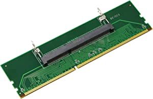 SinLoon Laptop DDR3 SO-DIMM to Desktop DIMM Adapter Card 200 Pin SODIMM to 240 Pin DIMM Memory RAM Converter Memory Computer RAM Memory Converter Internal Component(DDR3)