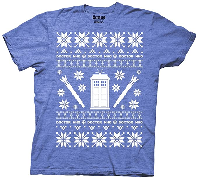 Amazoncom Ripple Junction Doctor Who Christmas Tardis Ugly Sweater
