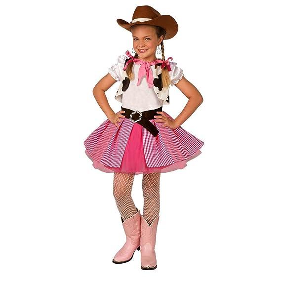 Amazon.com: Disfraz de vaquera para niñas de color rosa para ...