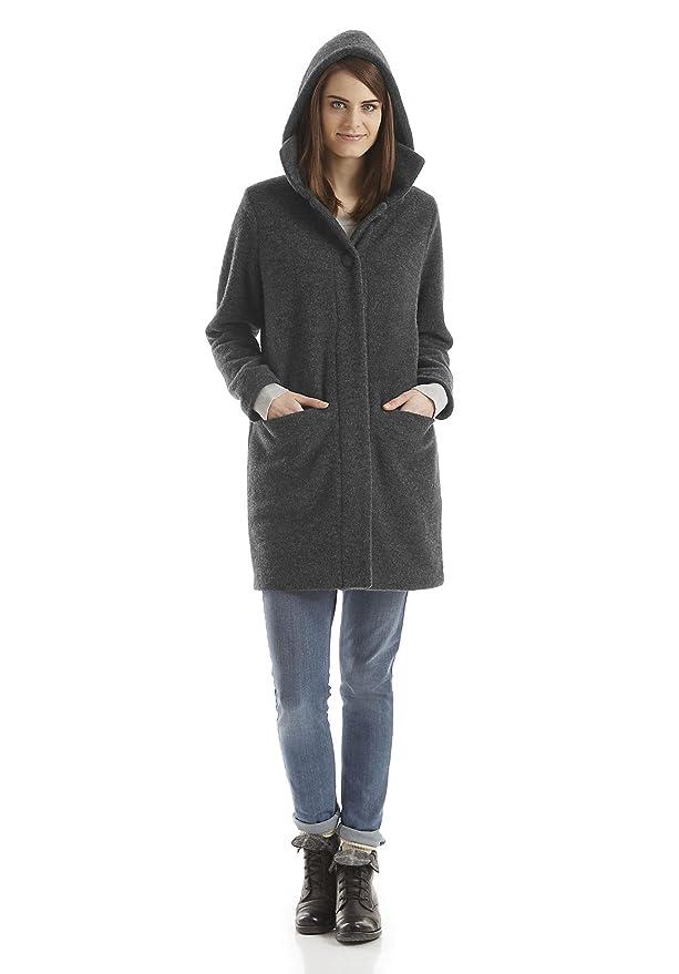 offizieller Verkauf Schnelle Lieferung heiße Produkte Bio Damen Wollfleece-Mantel aus reiner Bio-Schurwolle, grau ...