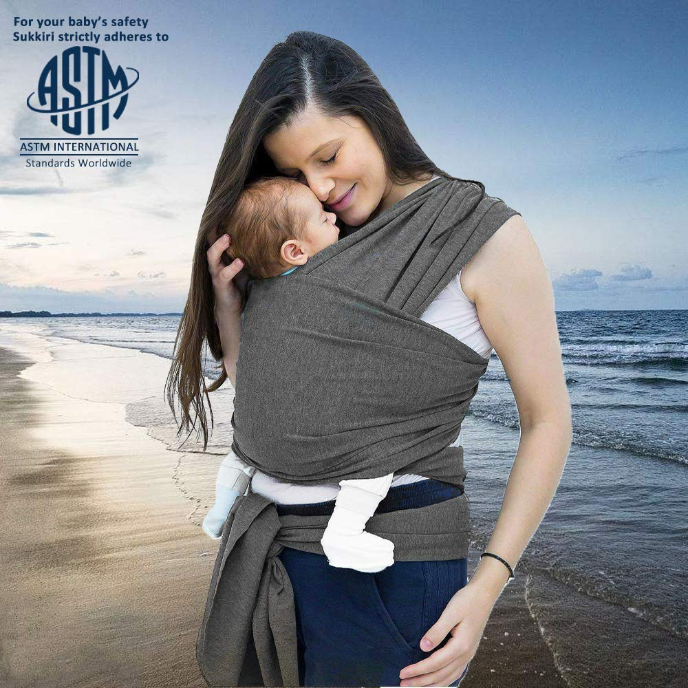 Baby Wrap Classic Gray Baby Wrap Carrier Baby Sling Hands Free Babies Carrier Wraps Baby Wrap Cuby Carrier Sling Baby Shower Gift Infant Carrier One Size Fits All