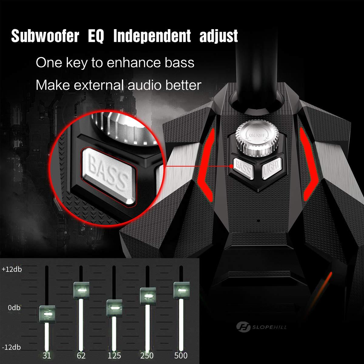 YouTube Micr/ófono Dual slopehill Omnidireccional Micr/ófono USB de Escritorio con Base para Jugadores Compatible con PC // Windows // Mac // PS4 para Radio Micr/ófono Gaming Skype Luz LED Juegos