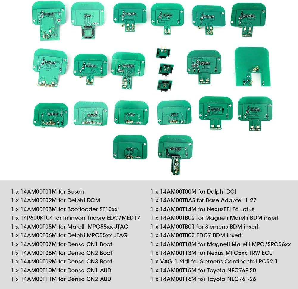 Adaptadores Suuonee para BDM 22PCS//Set Adaptadores para BDM K-Tag Kess Dimsport Sonda completa para LED BDM Frame ECU RAMP