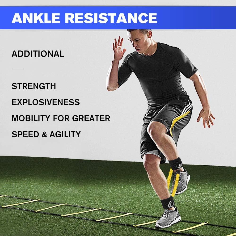 Bandas de resistencia de la pierna de velocidad, velocidad y agilidad para entrenamiento de atletismo, correa de estiramiento para todos los deportes, ...