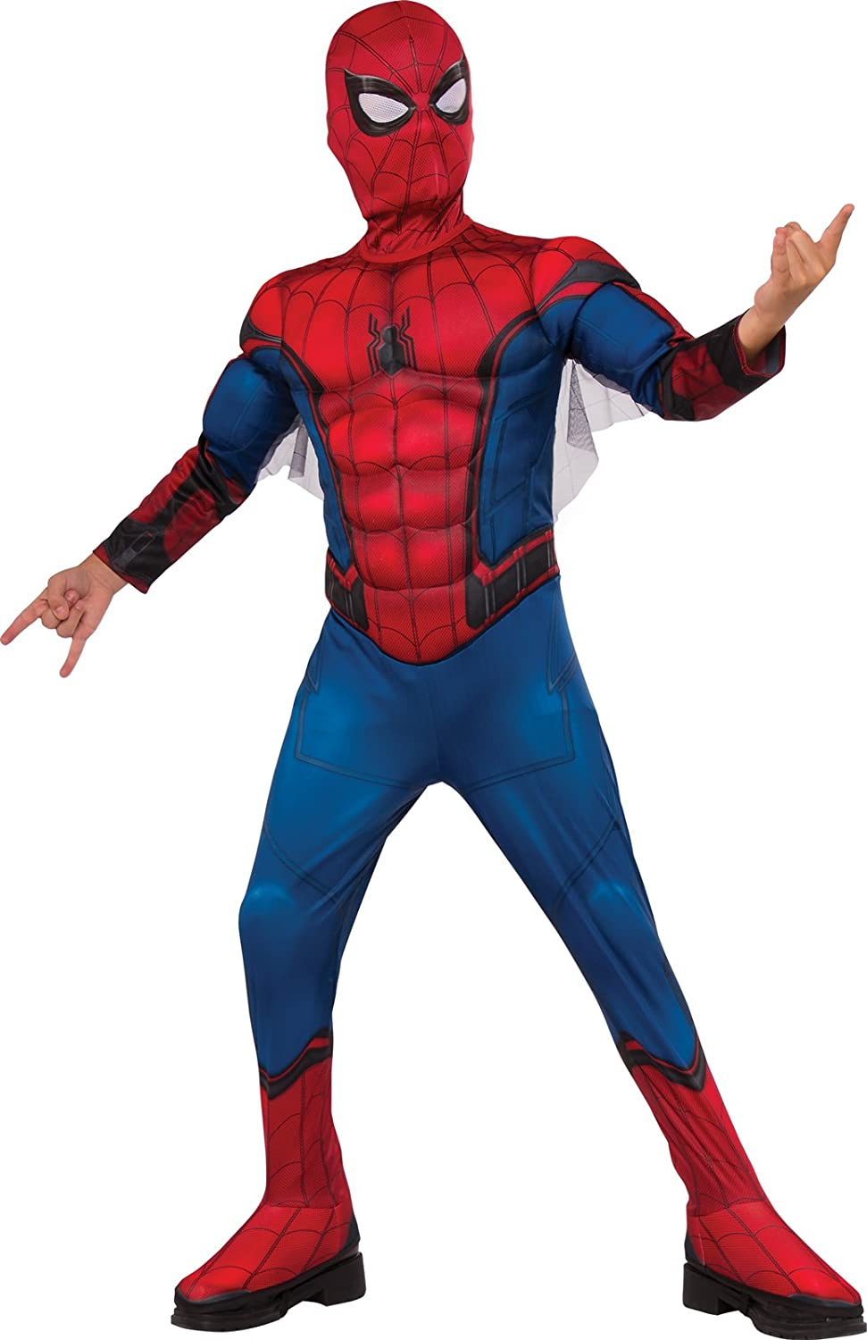 Rubie's Costume Spider-Man Homecoming Muscle Chest Costume, Small, Multicolor Rubies - Domestic 630731_S