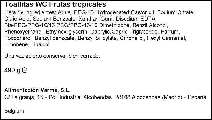 KANDOO toallitas húmedas frutas tropicales 100 uds: Amazon.es: Alimentación y bebidas