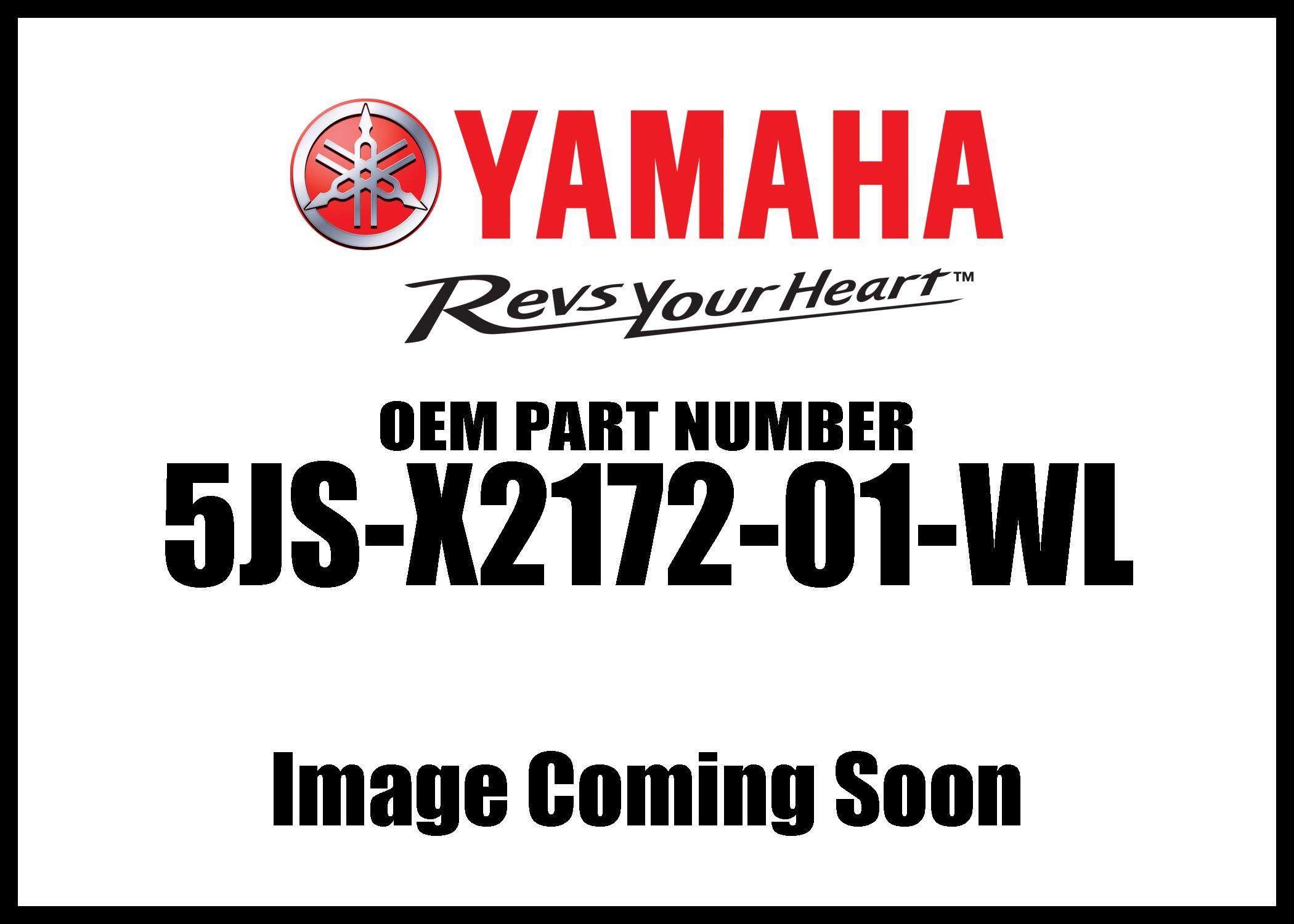 New Yamaha OEM 5JS-X2172-01-WL COVER, SIDE 2 5JSX217201WL