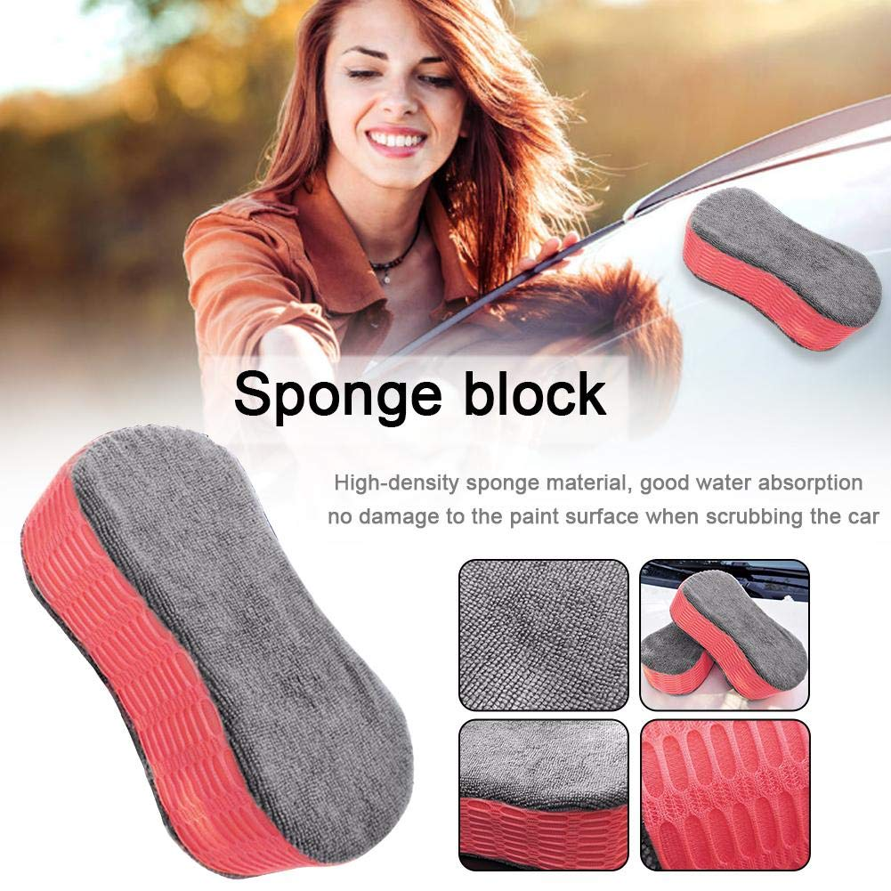 Shaped Absorbent Sponge Car Cleaning Tool Car Cleaning Sponge Car Wash Sponge Block High Density 8