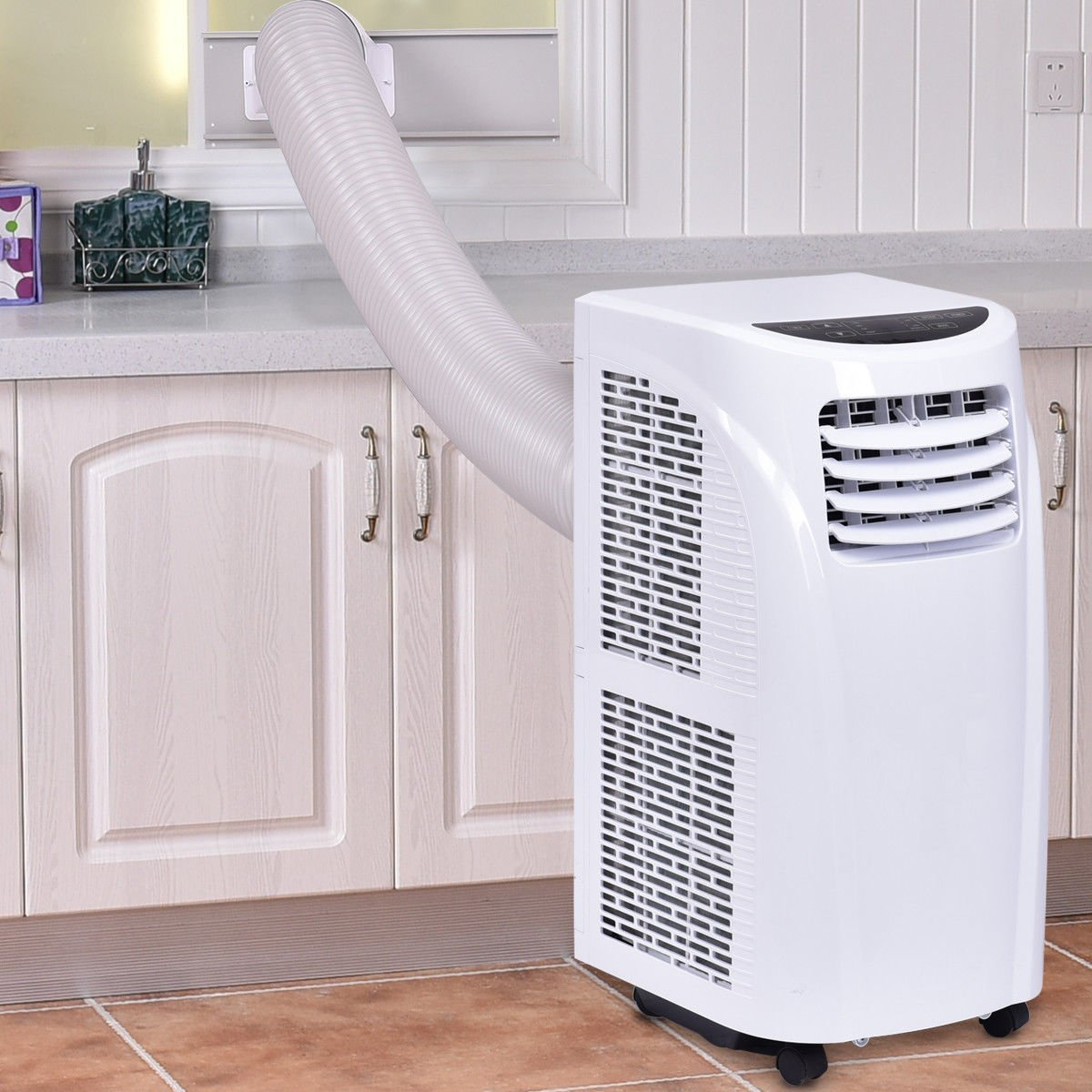 Costway 10,000 BTU Portable Air Conditioner with Remote Control Dehumidifier Function Window Wall Mount in White by COSTWAY (Image #2)