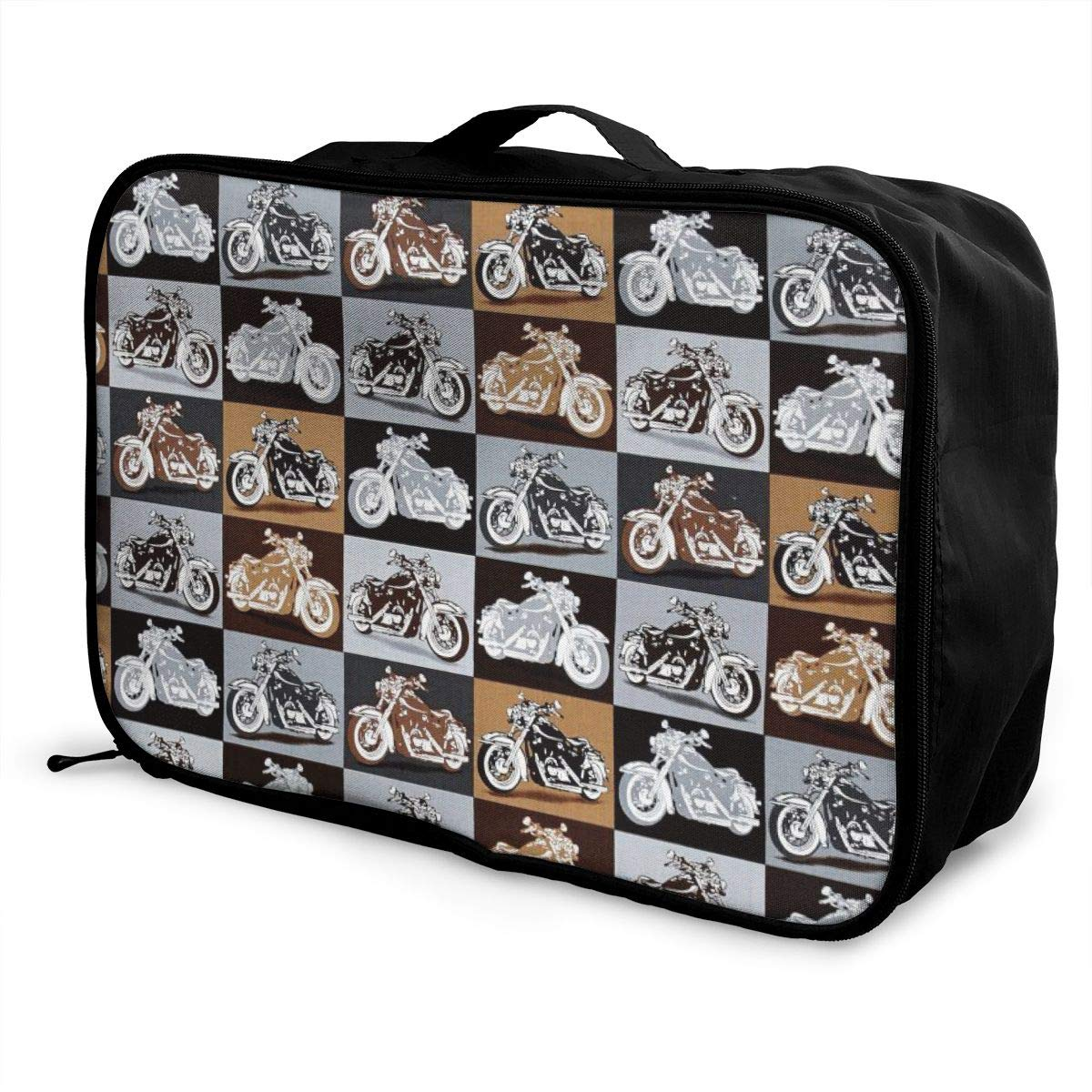 Biker For Life Motorcycle Travel Duffel Bag Casual Large Capacity Portable Luggage Bag Suitcase Storage Bag Luggage Packing Tote Bag Weekend Trip