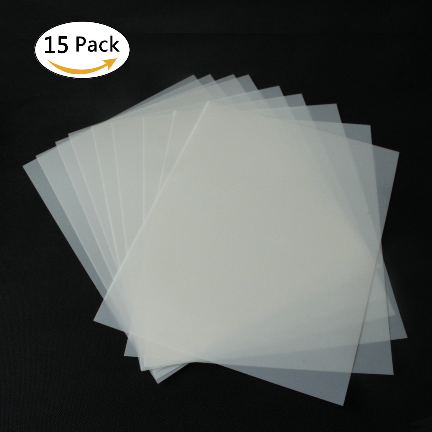 15 Pieces Blank Stencil Sheets,Square Blank Mylar Stencils, Make Your Own Stencils,8.5 x 11 inch