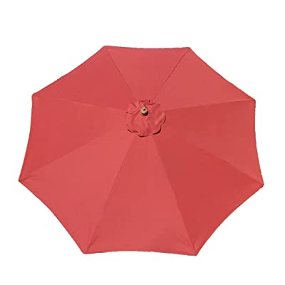 Formosa Covers 9ft Umbrella Replacement Canopy 8 Ribs in Brick Red (Canopy Only) : Outdoor And Patio Furniture Accessories : Garden & Outdoor