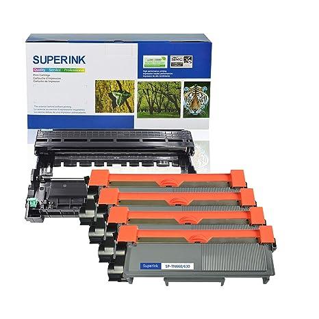 5pk Hi-yield TN660 TN630 Black Toner Cartridge For Brother DCP-L2540DW HL-L2300D