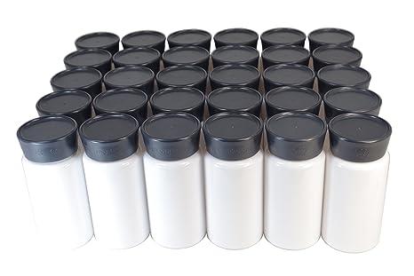 Lot 30 x botellas de plástico Pet blanco 150 ml con bouchage de calidad DIY cuidados