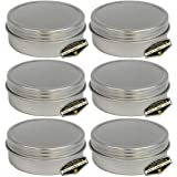 Mighty Gadget (R) 4 oz Round Tins Screw Lid Container (6 pack)