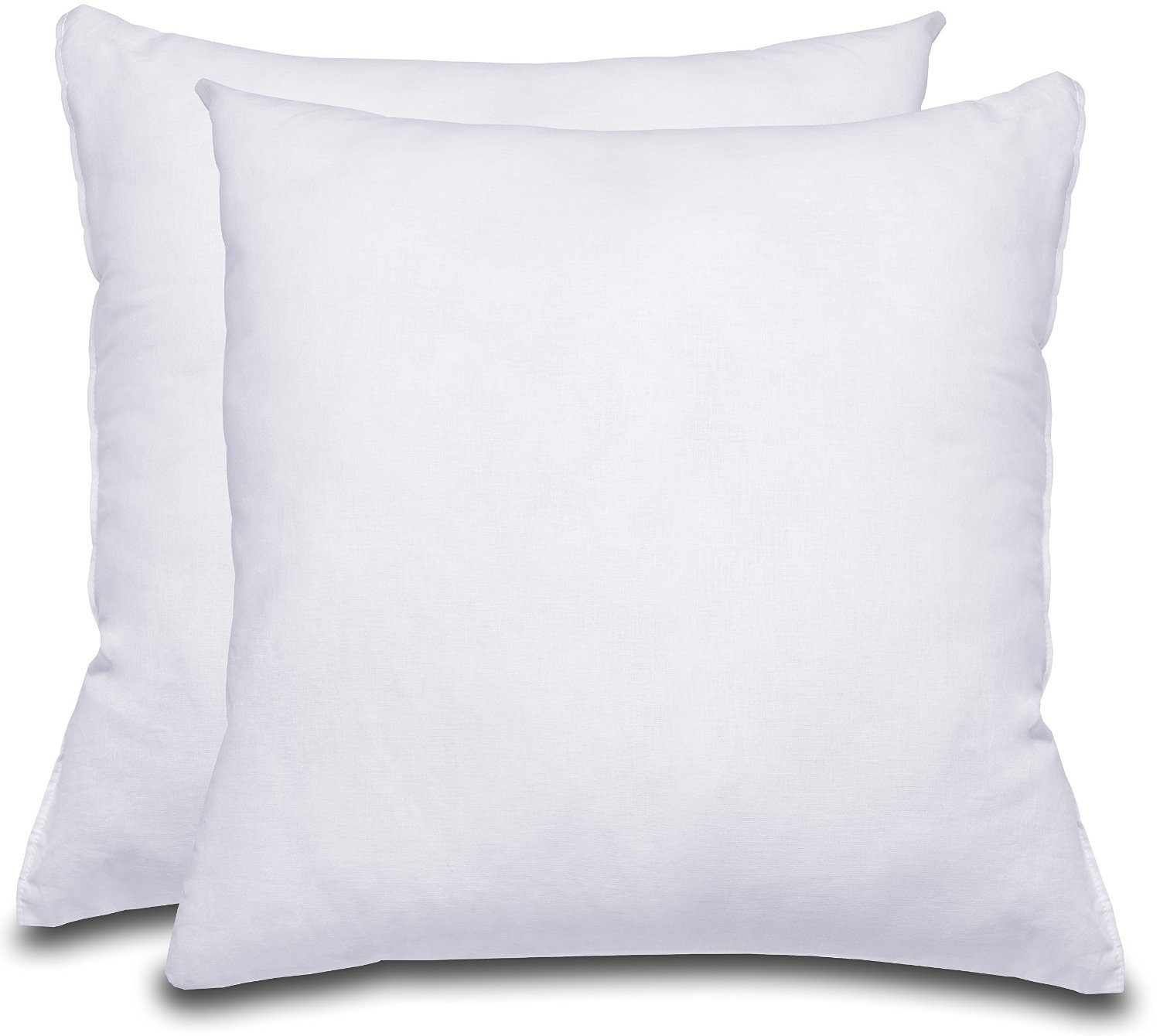 White bed pillows - Decorative Pillow Insert 2 Pack Square 18x18 Sofa Bed Pillow Polyester Cotton Indoor White Pillows By Utopia Bedding