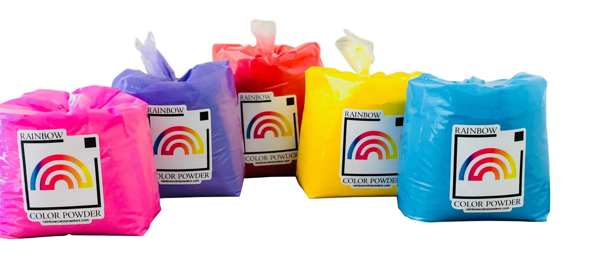 25lbs of 5 Colors (Assorted) by Rainbow Color Powders