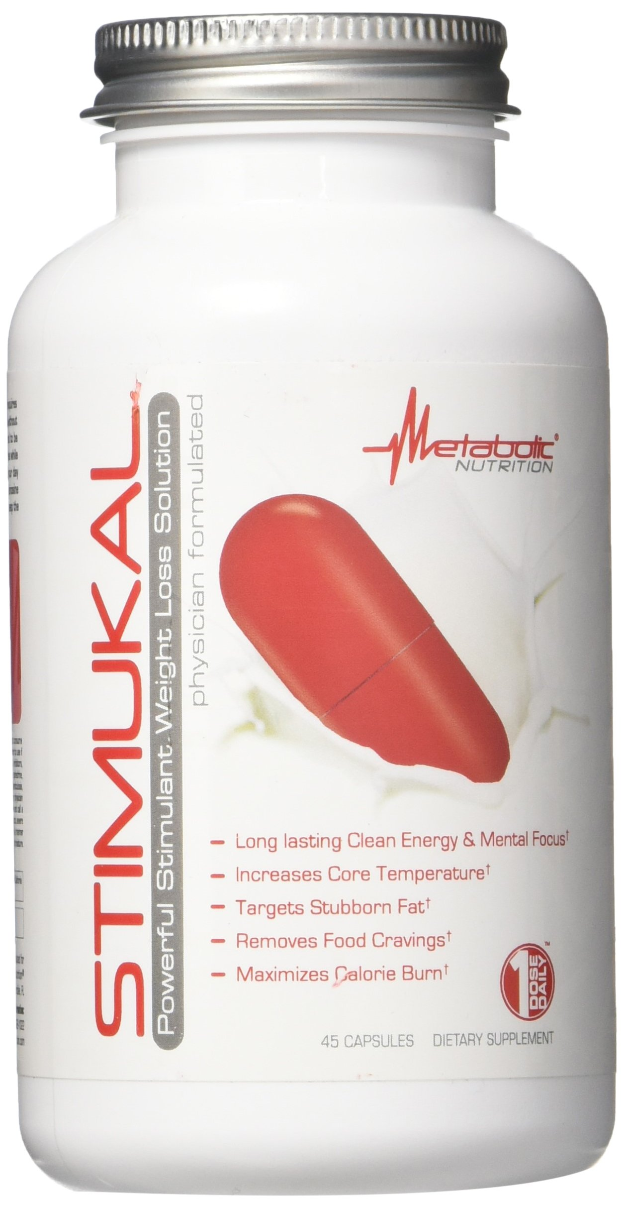 Metabolic Nutrition Stimukal Weight Loss Supplement, 45 Count
