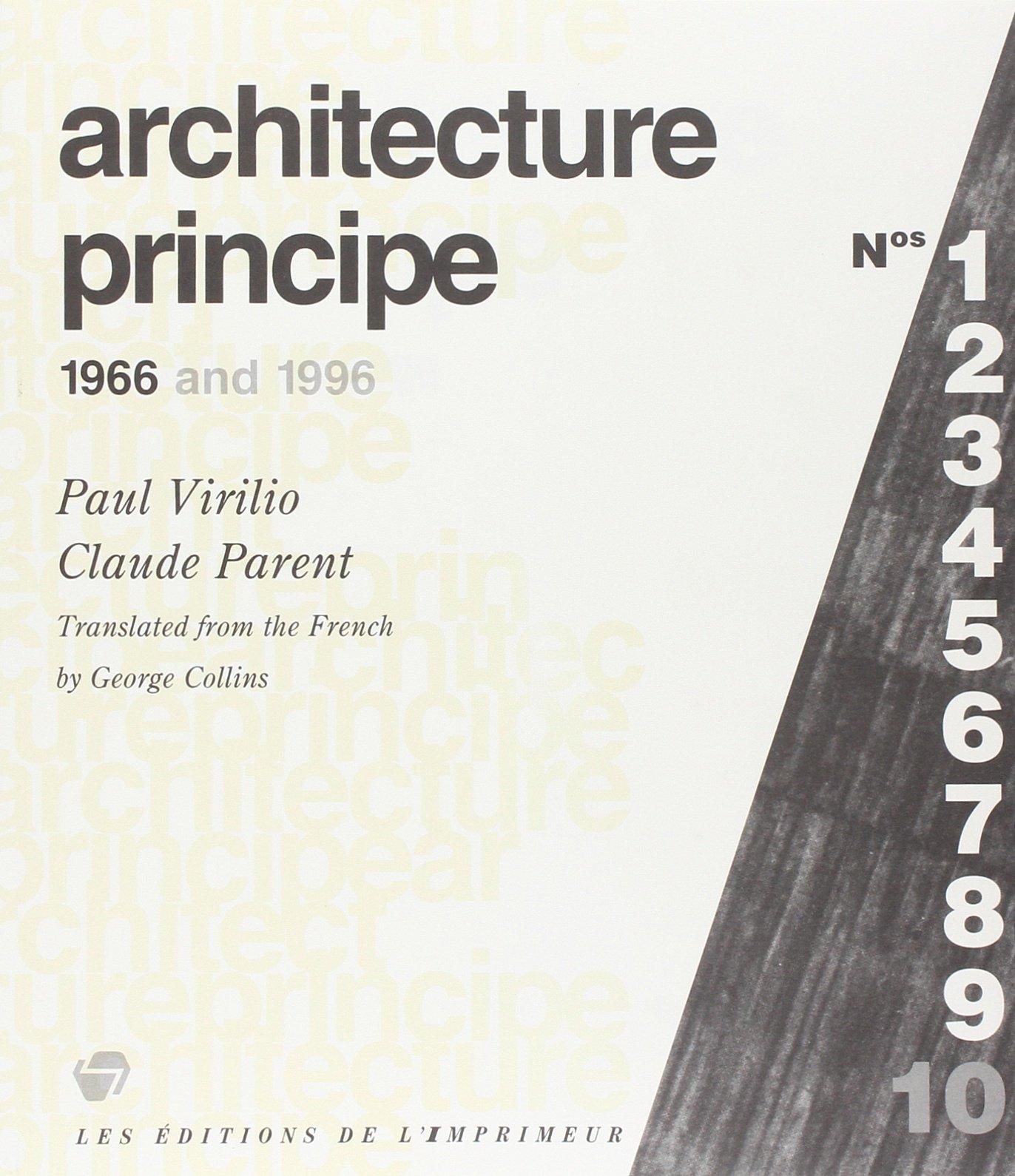 Architecture Principe: 1966 and 1996 by Les Editions de l'Imprimeur