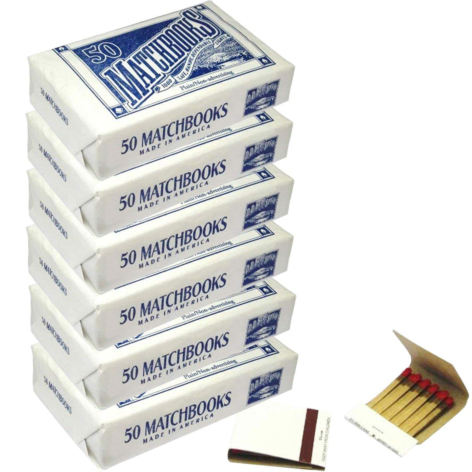 6 Boxes - Plain White Matches Matchbooks for Wedding Birthday Wholesale by ZigarreLicht (Image #1)