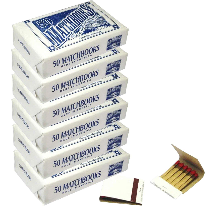 6 Boxes - Plain White Matches Matchbooks for Wedding Birthday Wholesale