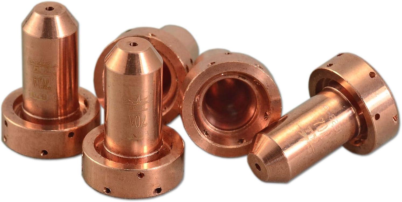 9-8231 Plasma boquilla 70Amp Ajuste Thermal Dynamics Antorcha SL60 SL100 5pk