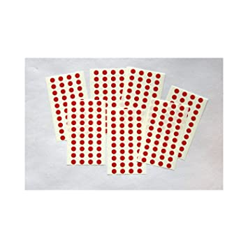 270 red round stickers sticky coloured self adhesive dots for colour coding