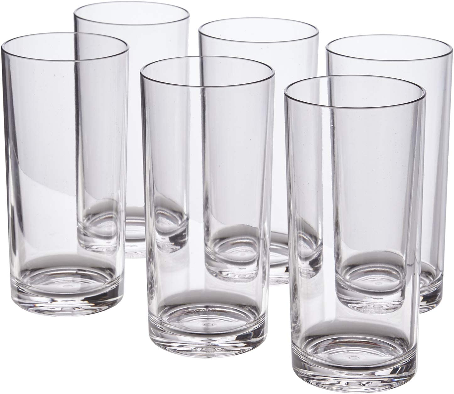 Amazon Com Classic 16 Ounce Premium Quality Plastic Water Tumbler Clear Set Of 6 Mixed Drinkware Sets