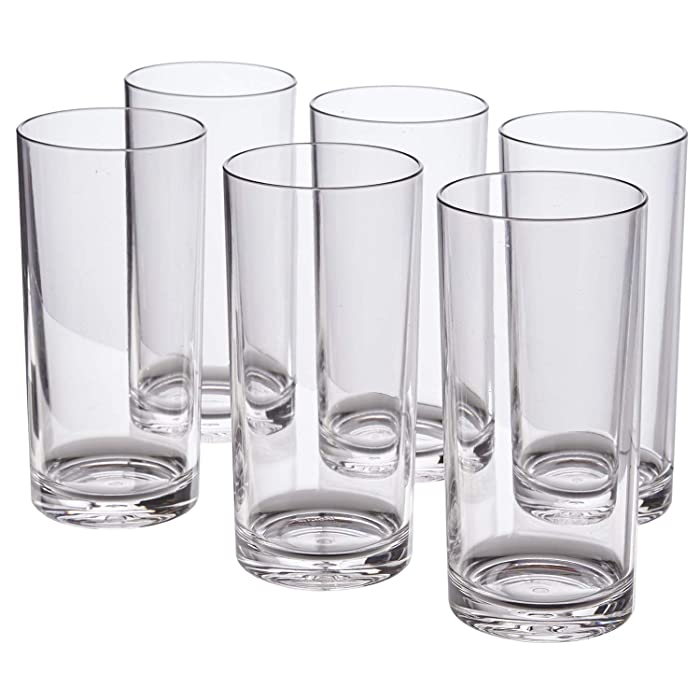 Classic 16-ounce Premium Quality Plastic Tumblers | set of 6