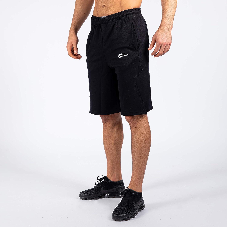 Sweatpants Jogger Freizeithose SMILODOX Herren Shorts Ontario Kurze Hosen f/ür Sport Gym Training Trainingshose Sporthose Jogginghose Kurz
