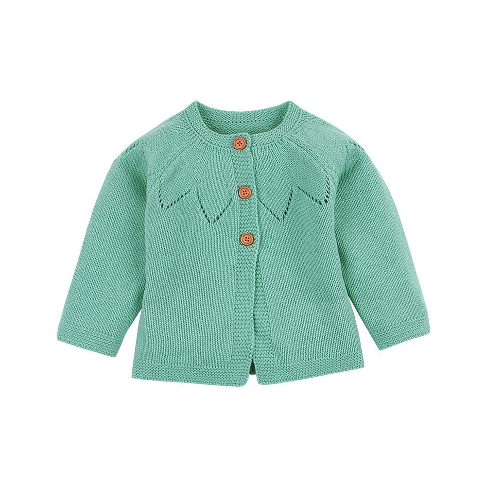 Pollyhb New Baby Soft Warm Cardigan Coat, Toddler Baby Boys Girls Sweaters Winter