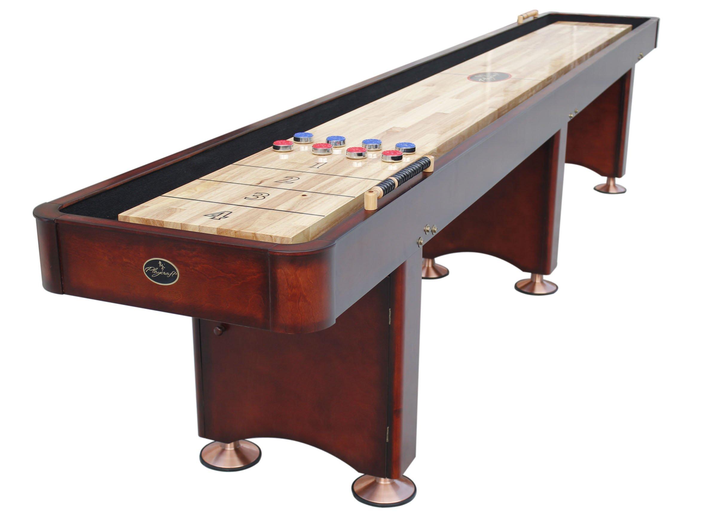 Playcraft Georgetown Cherry 14' Shuffleboard Table by Playcraft