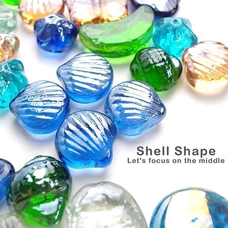 Piedra de cristal para acuario de 500 g (aproximadamente 30 – 35 piedras).