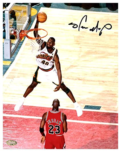 0d32466c4 Image Unavailable. Image not available for. Color: Shawn Kemp Autographed  Signed Framed 8x10 Photo Seattle Sonics ...