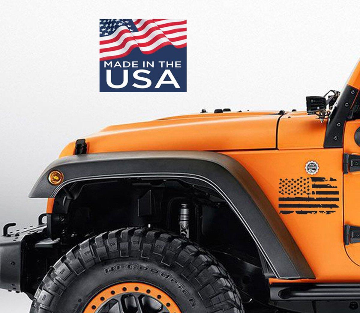 Jeep Wrangler Renegade >> 2 Us Flag Vinyl Side Decals Fit All Trucks Cars Jeep Wrangler Renegade American Usa