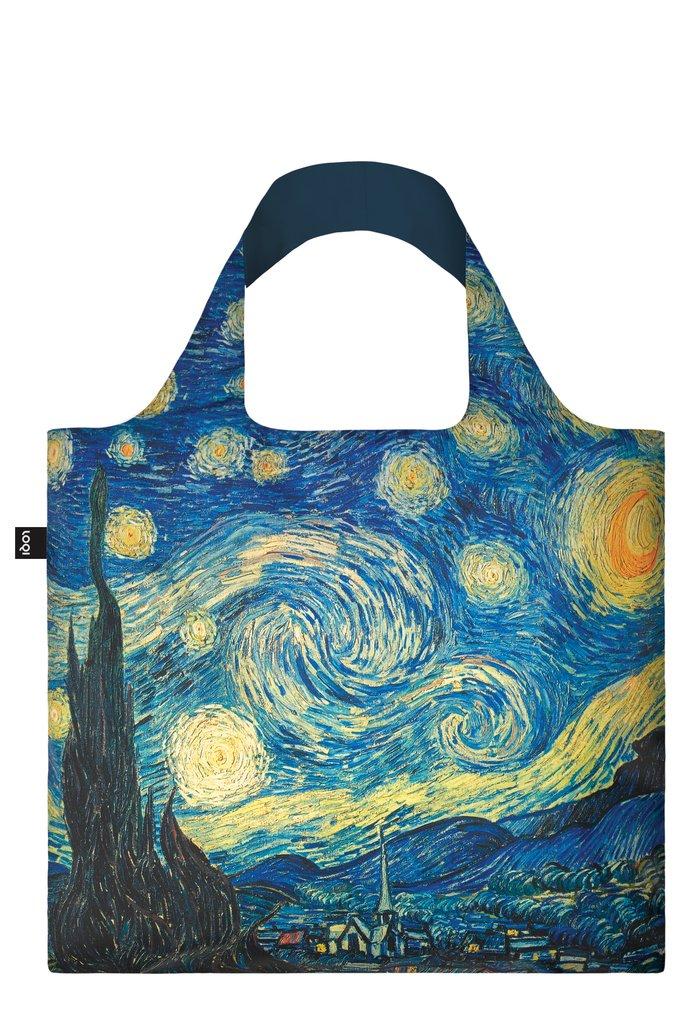 LOQI Museum Vincent Van Gogh The Starry Night Bag Sac de Plage, 50 cm, 20 liters, Multicolore (Multicolour)