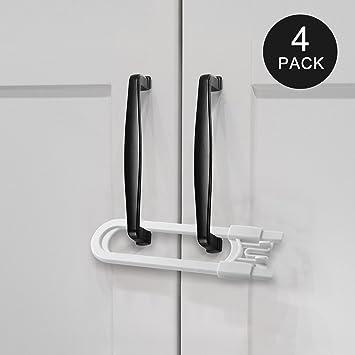 Adoric Sliding Cabinet Locks, U Shaped Baby Safety Locks, Childproof Cabinet  Latch For Kitchen